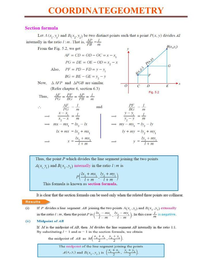 section formula coordinate geometry wikipedia