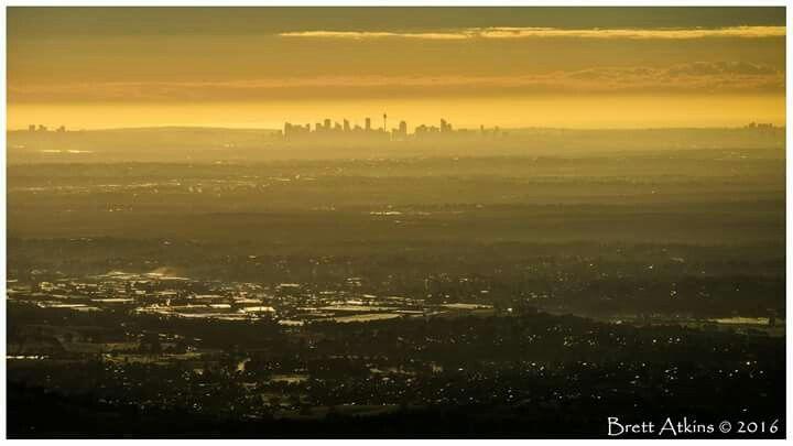 View of Sydney skyline from Camden by Brett Atkins