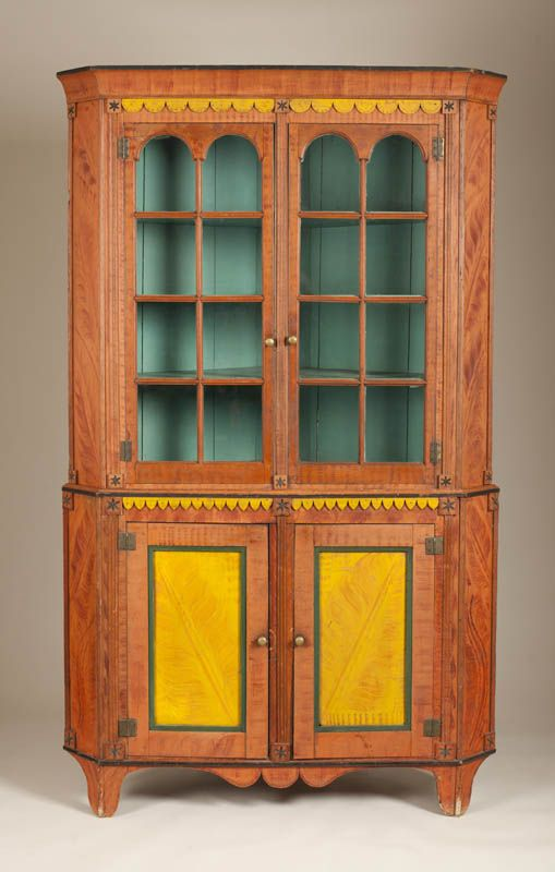 Corner Cupboard Artist unidentified Pennsylvania 1815–1835 Paint on tulip  poplar, brass, and - 135 Best Corner Cupboards Images On Pinterest Corner Cabinet