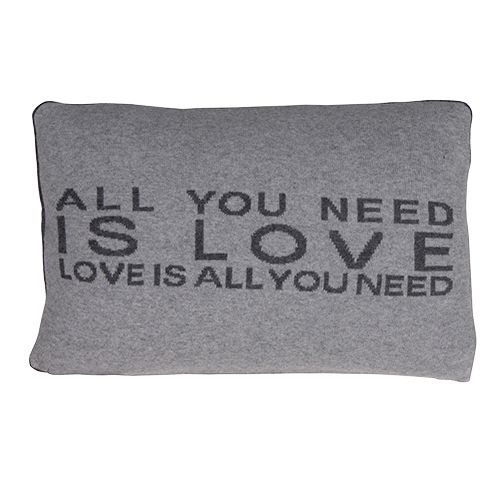 Grey all you need is love cushions