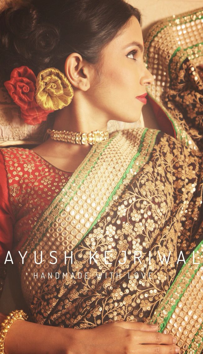 Saree by Ayush Kejriwal For purchase email me at ayushk@hotmail.co.uk or what's app me on 00447840384707. We ship WORLDWIDE.