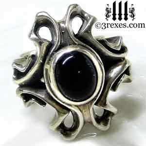 Empress Wedding Ring Silver Vampire Band
