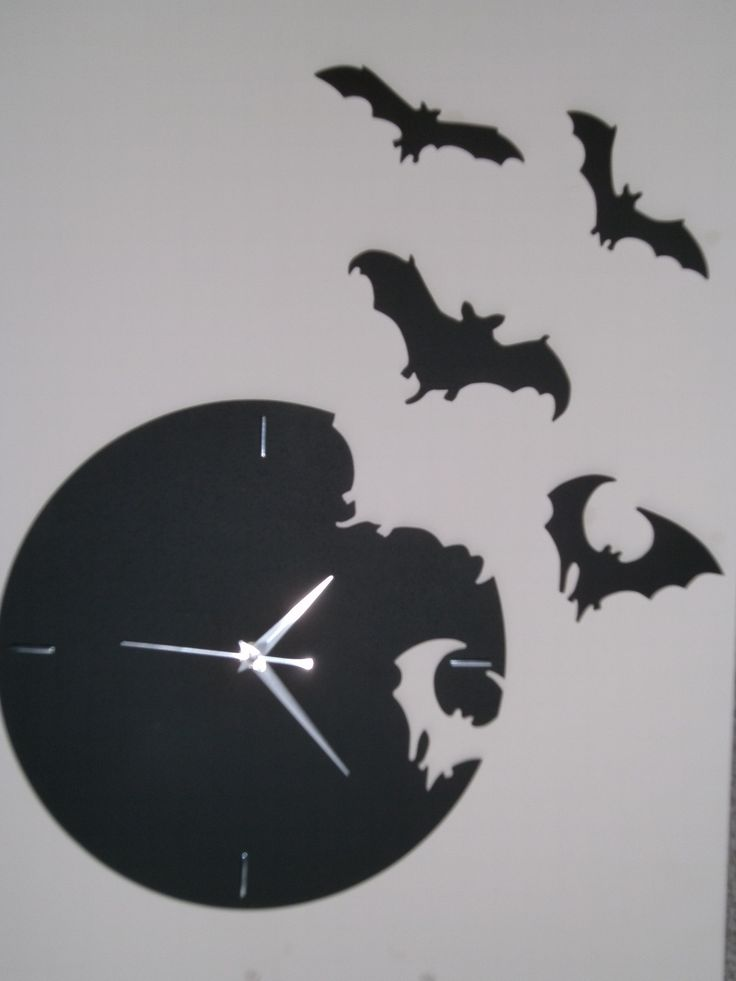 Handmade With Love Bat Wall Clock Unique Things For The