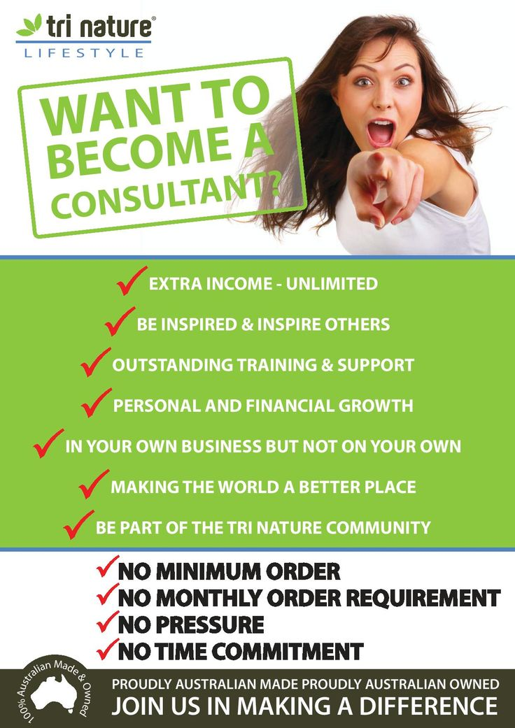 Want to become a consultant?  Work the hours that suit you from wherever you like!  Be your own boss!  Interested?  Email me at goodelife@bigpond.com or visit www.nat.trinature.com today! #selfemployment #workfromhome #money