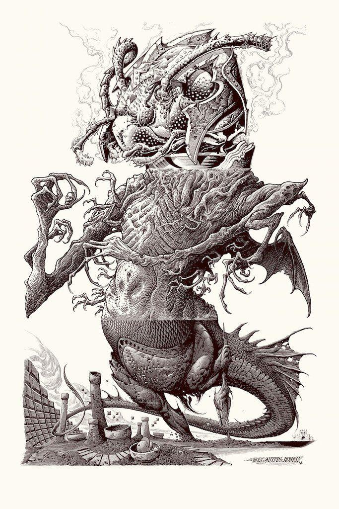 Monster Art Nicolas Delort Dream Art Black And White Illustration