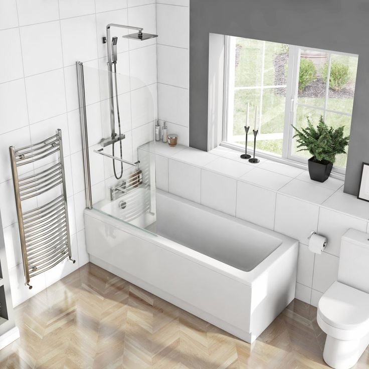 Click here to find out more about the Orchard square edge straight shower bath with 6mm shower screen and rail - £159.2