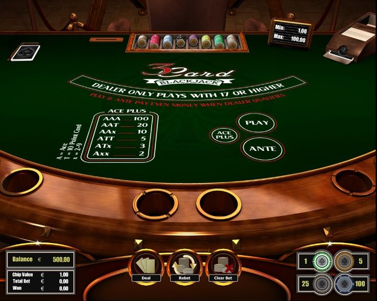 3 Card Blackjack! For more games, register on http://casino-goldenglory.com/