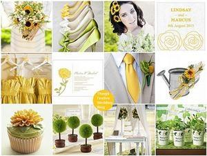 Sunflower Wedding Theme - Yellow & Green Wedding ThemeColors Combos, Sunflowers Theme, Summer Wedding, Yellow Wedding, Sunflowers Wedding, Theme Wedding, Sunflower Wedding Themes, Green Weddings, Sunflower Weddings