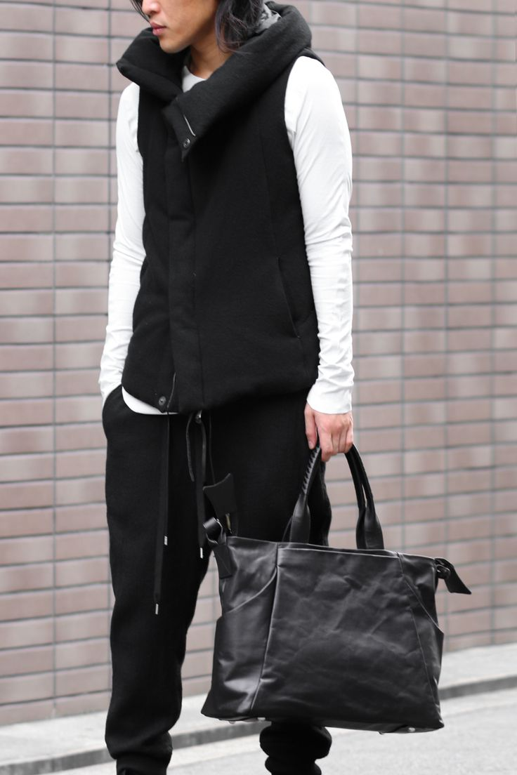 Wool Hooded Sleeveless Down - The Viridi-anne×cornelian taurus Bag Style - Front