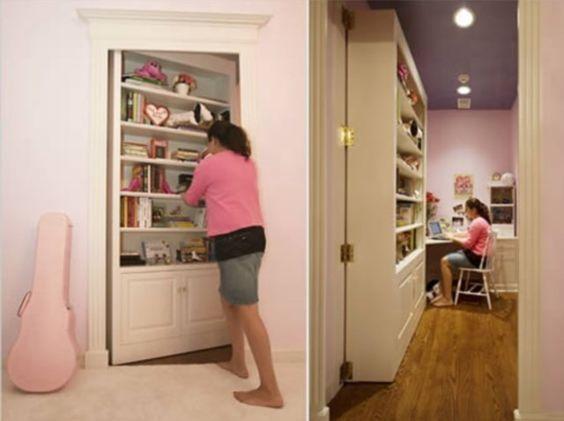 Prepare-se para descobrir algumas portas e móveis que ocultam ambientes: