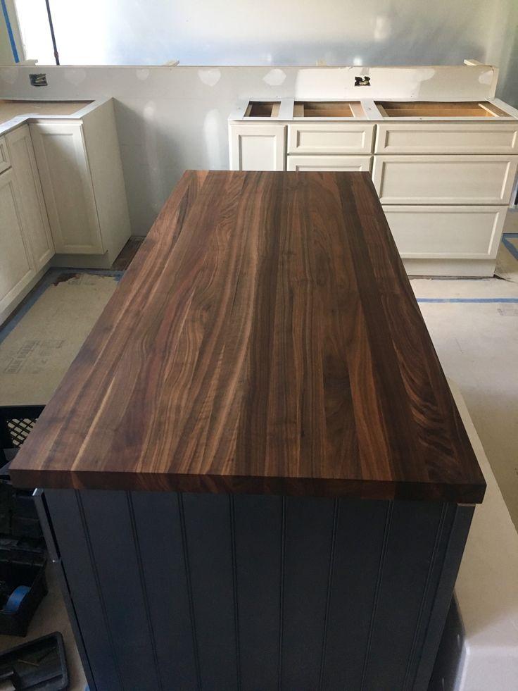 Walnut Countertop For This Kitchen Island By Garden State Soapstone Www Gardenstatesoapstone Com