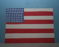 American Flag Craft - Making a simple American flag out of paper with your kids presents a great opportunity to teach them about the flag. Tell them how each stripe represents one of the original 13 colonies and how each star represents each state in the USA.