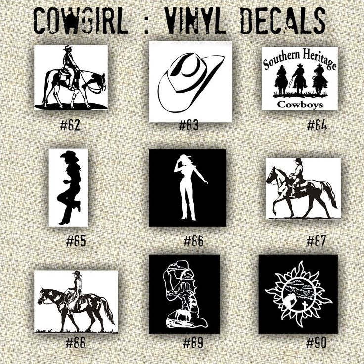 Best Cowboy Stickers Images On Pinterest Cowboys Vinyls And - Cowboy custom vinyl decals for trucks
