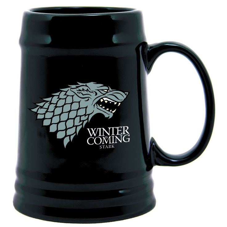 Game Of Thrones 22 Oz. Ceramic Stein Stark, Black