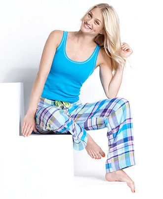 Jenni Pajamas, Top and Flannel Pajama Pants Set - Womens PAJAMAS & ROBES - Macy's