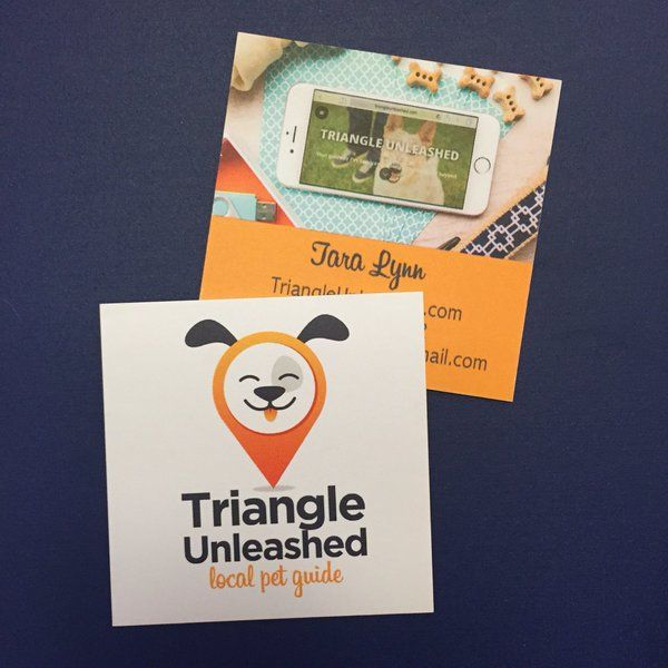 Triangleunleash We Love These Cards Such A Cute Design Overnightprints Creativity Business Pinterest Overnight Prints