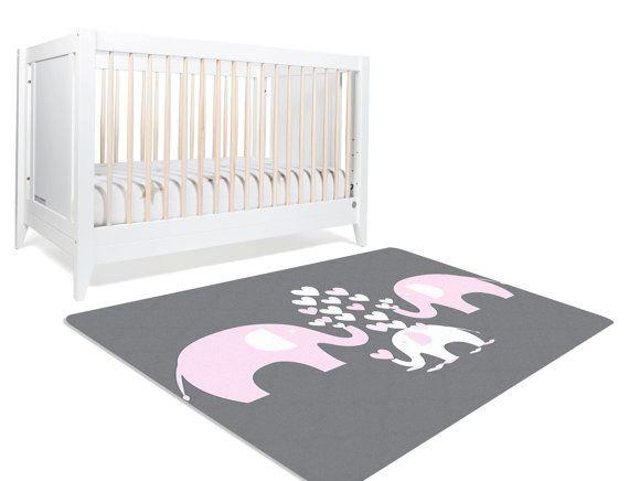 Elephant Nursery Rug Elephant Rug Pink Elephant Nursery