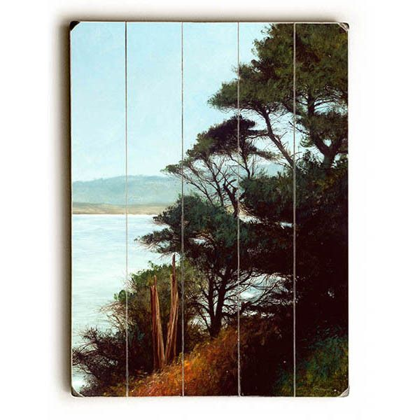 Carmel Bay by Artist Miguel Dominguez Wood Sign