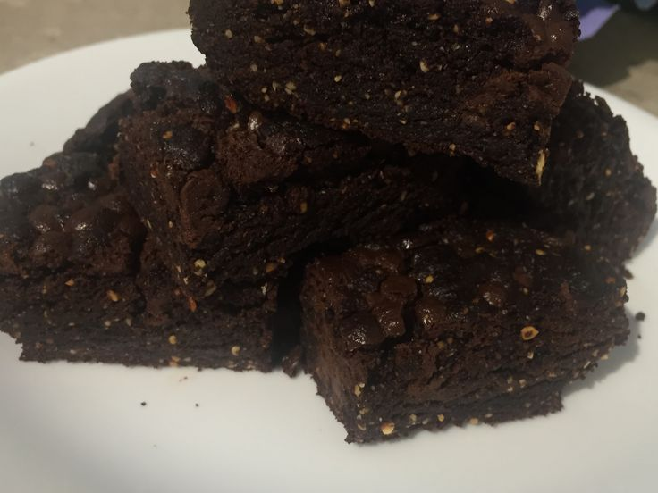 Chocolate Brownies with Sacha Inchi, great snack and the goodness of Sacha Inchi Omega 3,6 and 9 and Protein Powder.