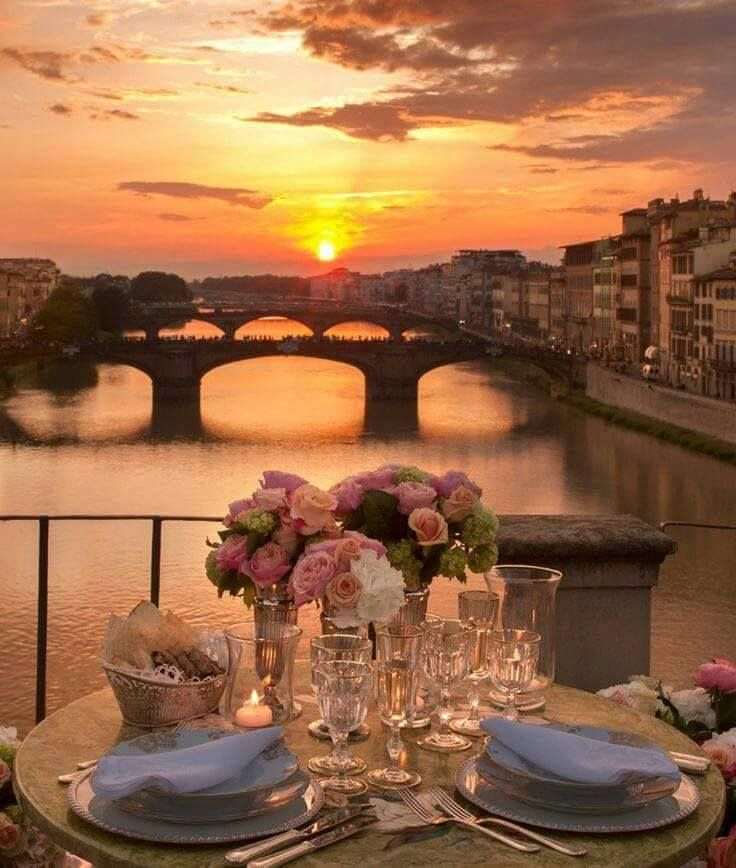 fourth-floor private terrace on the Ponte Vecchio Bridge- Florence, Italy