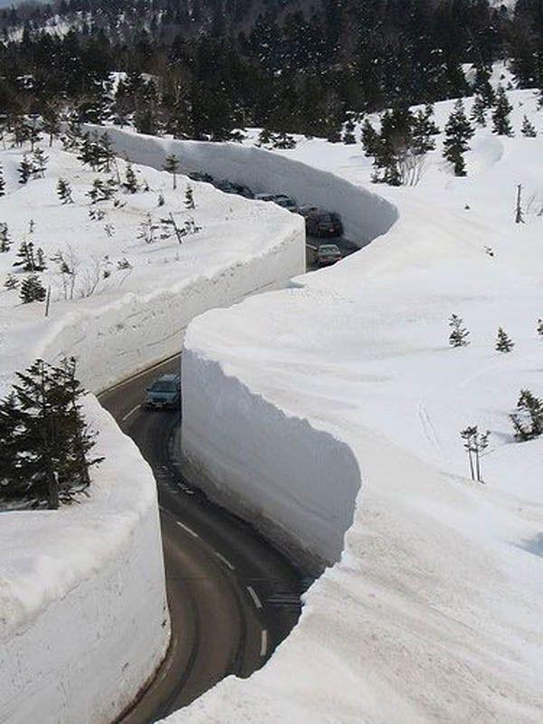 20 m snow corridor in Japan – Sabri Saç Katana