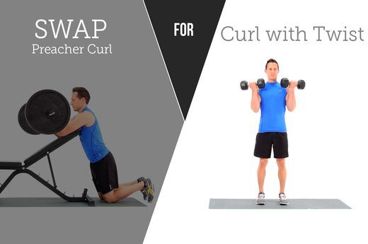 10. SWAP OUT: Preacher Curls FOR: Biceps Curls With Twist
