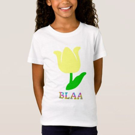 Text in Manx: blaa and yellow flower T-Shirt - click/tap to personalize and buy