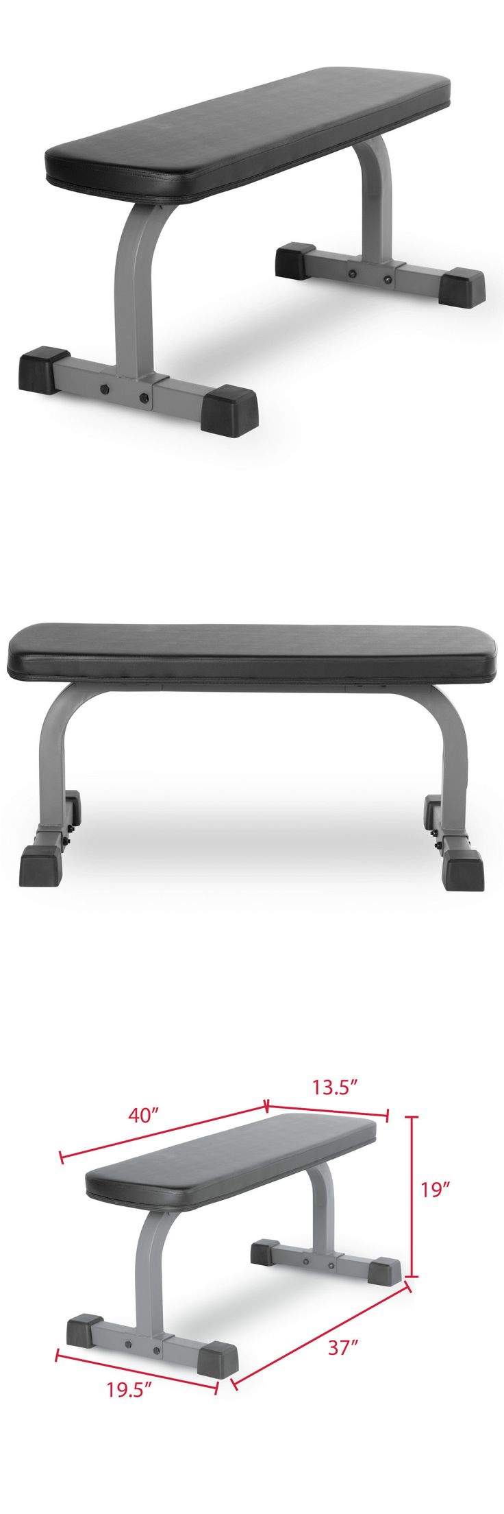 Benches 15281: Xmark Fitness Xm-4413.1 Flat Weight Bench BUY IT NOW ONLY: $75.0