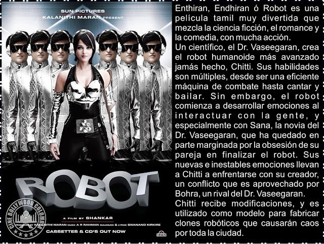 Cine Bollywood Colombia: ENDHIRAN - ENTHIRAN - ROBOT