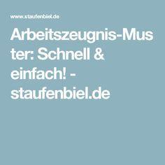 Arbeitszeugnis-Muster: Schnell & einfach! - staufenbiel.de