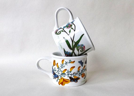 Vintage #CoffeeMugs #Portmeirion #BotanicGarden First Stamp 2