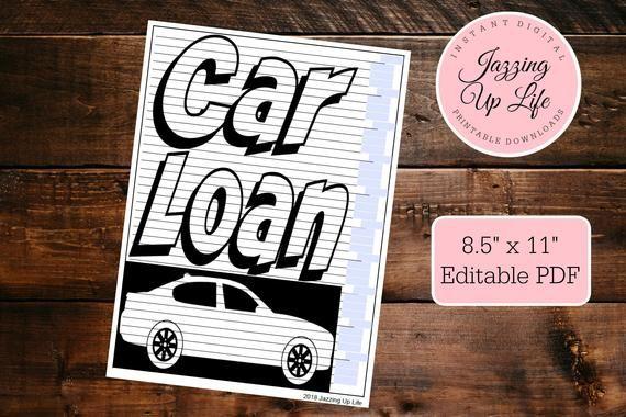 Car Loan Payoff Tracking Chart Dave Ramsey Debt Snowball Etsy Paying Off Car Loan Car Loans Loan Payoff