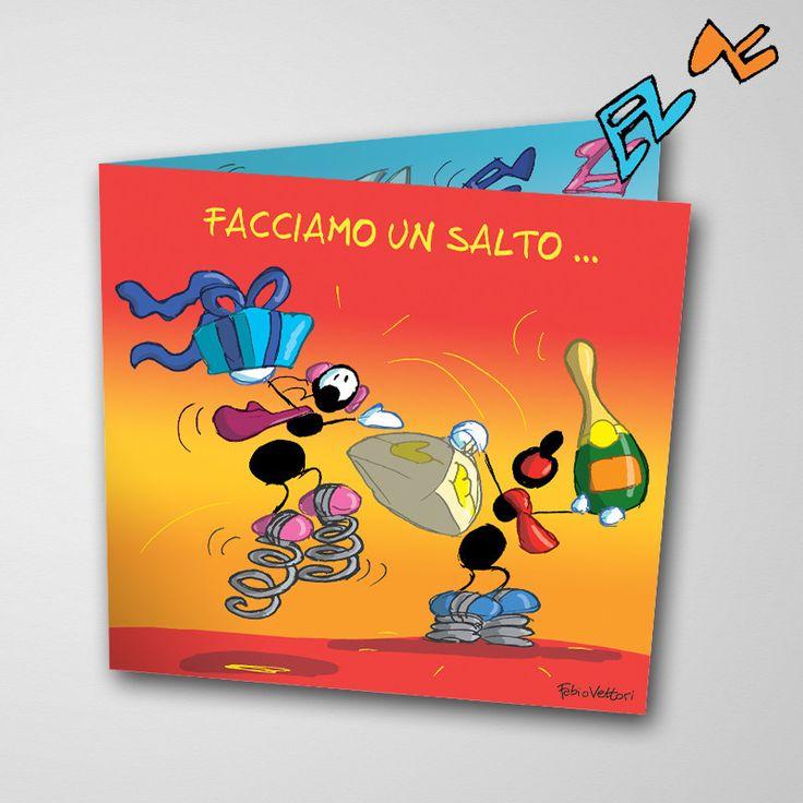 Biglietto musicale Compleanno (FV07-07) | Le Formiche di Fabio Vettori #formiche #fabiovettori #biglietto #auguri #musica #music #fun #regalo #gift #compleanno #festa #party