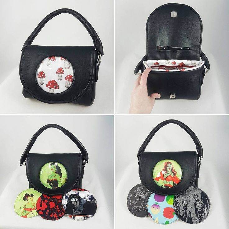 "'Choose Your own Fandom"" purse custom order for my artist friend Jen!  In all the photos here it is the SAME purse with switchable Fandom discs to give you a different look!  Now taking orders for these fab purses at www.stellarevolutiondesigns.com in the Custom Order section!"