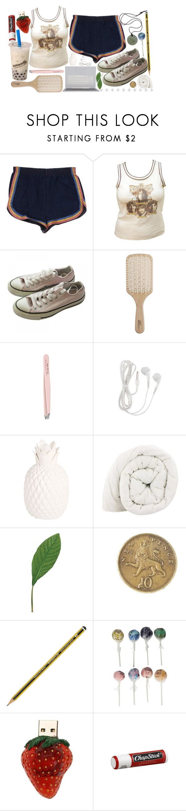 """Untitled #1475"" by soft-dreamy-girl ❤ liked on Polyvore featuring Well Worn, Converse, Philip Kingsley, Anastasia, Zara Home, Laura Cole, Alkemie, Original Gourmet Food Company and Chapstick"