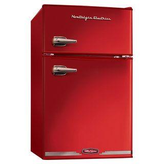Nostalgia Electrics Red Retro Series 3.1-Cubic Foot Compact Refrigerator Freezer