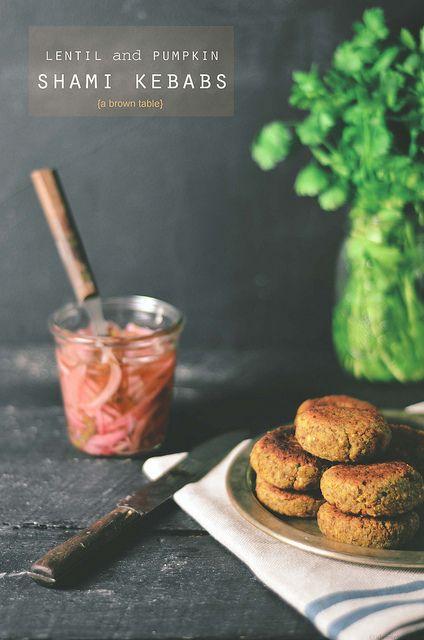 Lentil and Pumpkin Shami Kebabs by abrowntable | via Flickr