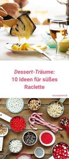 Was Neues ins Pfännchen gibt es mit diesen süßen Raclette-Rezepten. Ideal für Silvester! #raclette #silvester #rezepte