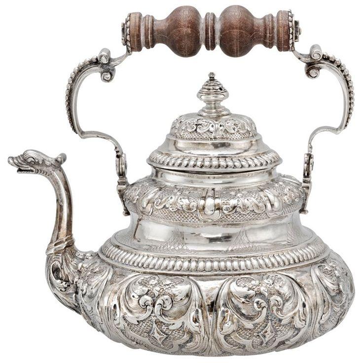 Dutch Silver Tea Pot with Dolphin Spout c1730 | 1stdibs.com
