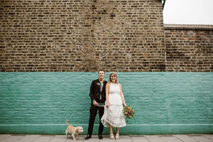 From last Saturday - Hannah (@puptartlondon) Simon and Indy in Islington. . Today I'm off to shoot Emily & Gordon's big colourful back garden wedding and I can't wait. See you on the other side.