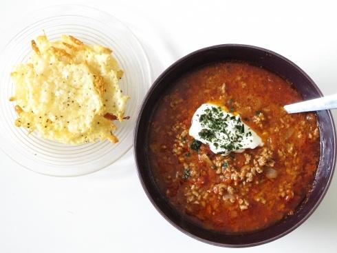 köttfärssoppa med ostchips