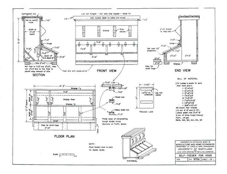 Pig feeder plans for the pets pinterest the o 39 jays for Design your own farm layout