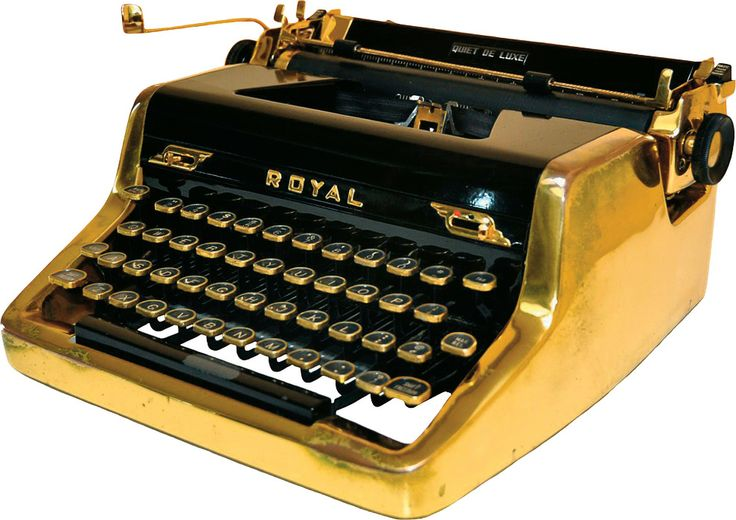 Gold typewriter from 1950 used by Ian Fleming