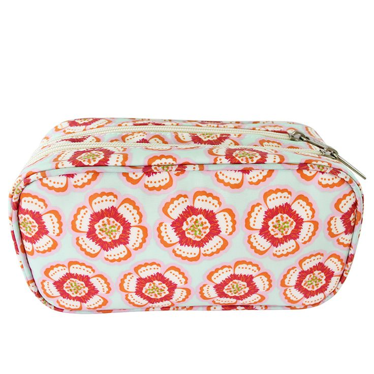 Flora Pink Medium Makeup Bag