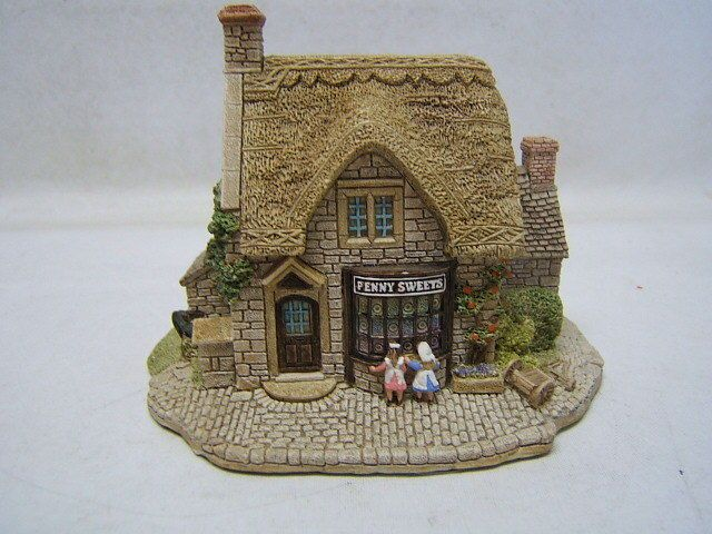 """Lilliput Lane """"Penny Sweets"""" #593 Village Shops Collection 1992 MIB"""