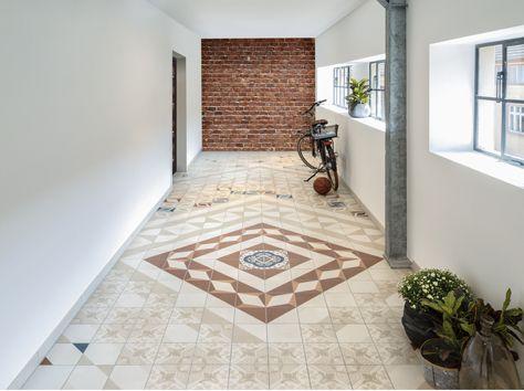 11 best CARRELAGE CARREAUX DE CIMENT images on Pinterest Alsace - beton cellulaire en exterieur