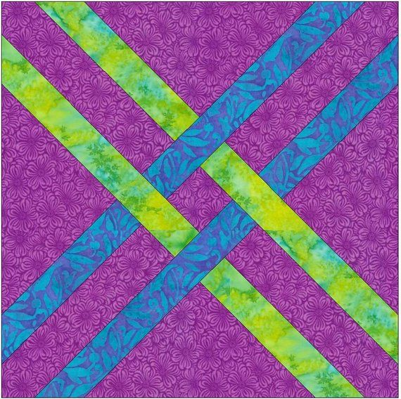 Celtic Narrow Knots Chain Paper Templates Quilting Block Pattern Pdf Quilt Patterns Paper Piecing Patterns Quilts