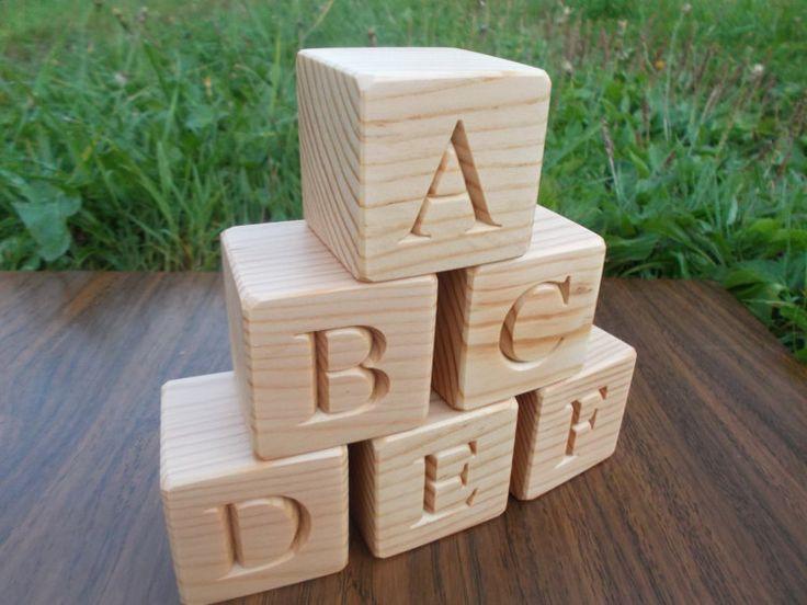 ABC-Blöcke hölzerne englisches Alphabet-Blöcke von WoodpeckerLG