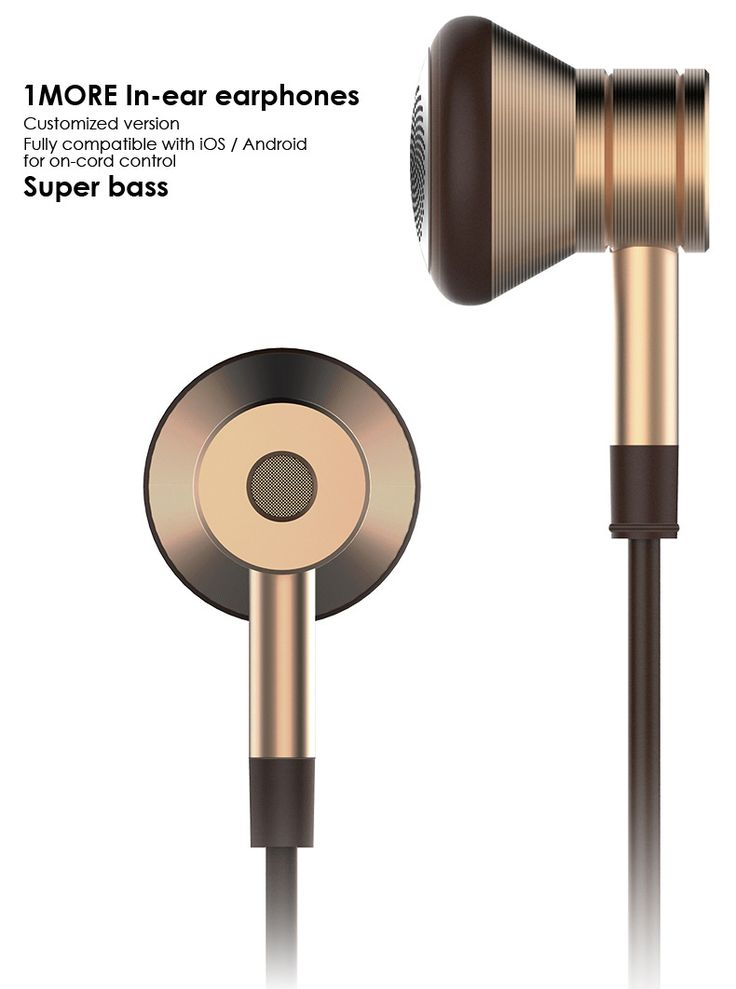 1MORE EO320 Piston In-Ear Headphones with In-Line Mic and Remote