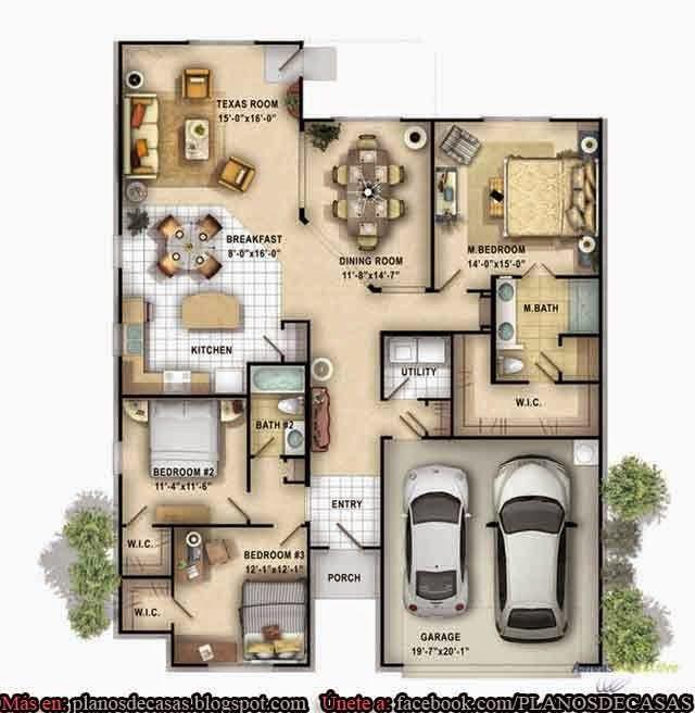 planos de casas de un piso pte interior hay otra imagen con parte